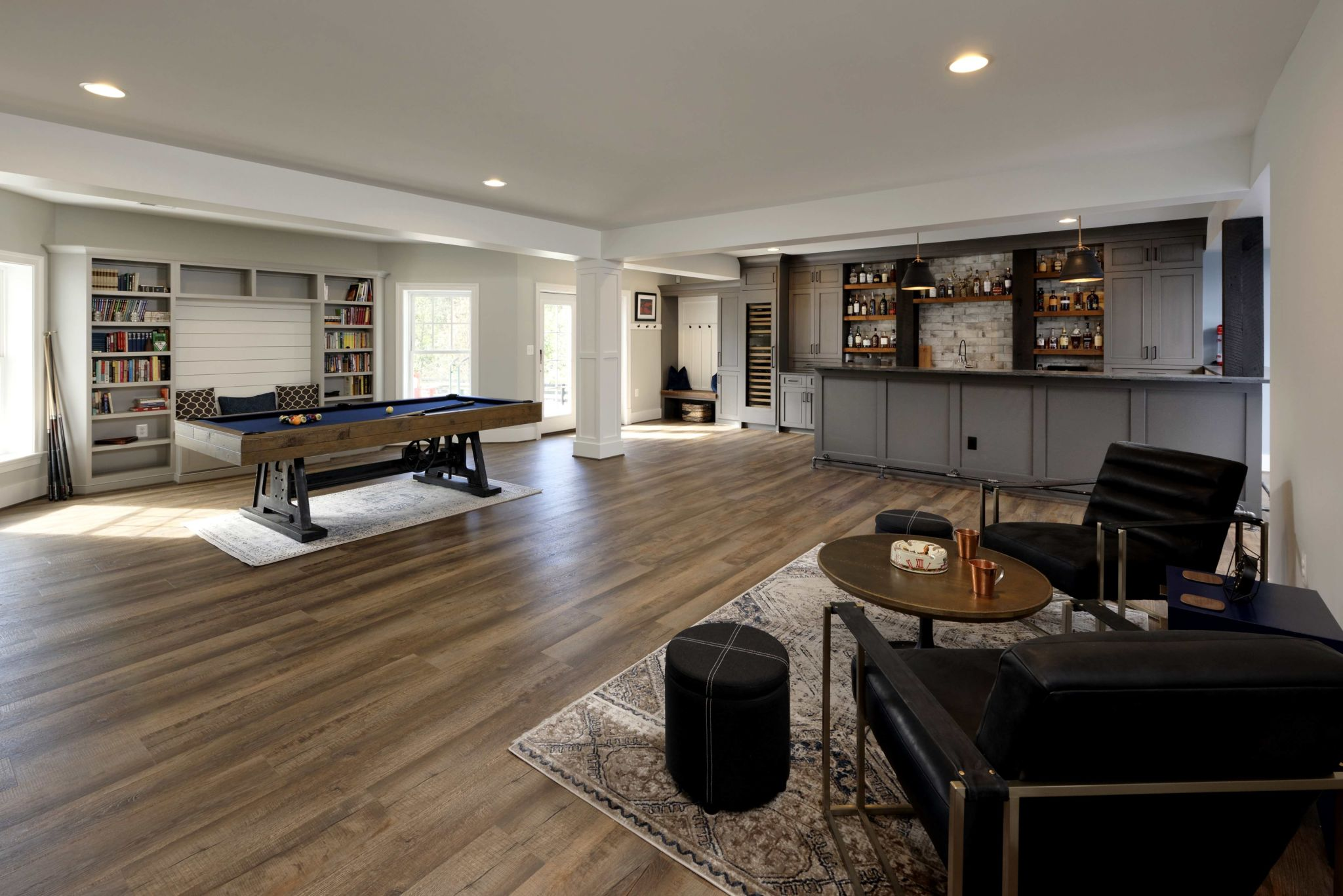 Photos of Finished Basement with Creative Lab in Ashburn Virginia